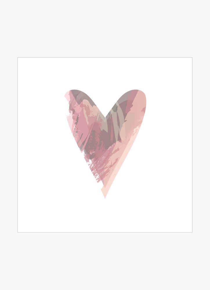 Hjärta rosa mönster poster