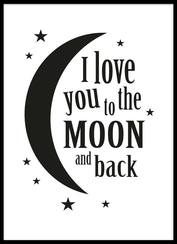 """""""I love you to the moon and back""""-tavla"""