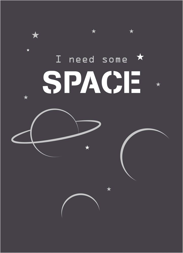 I need some space text poster