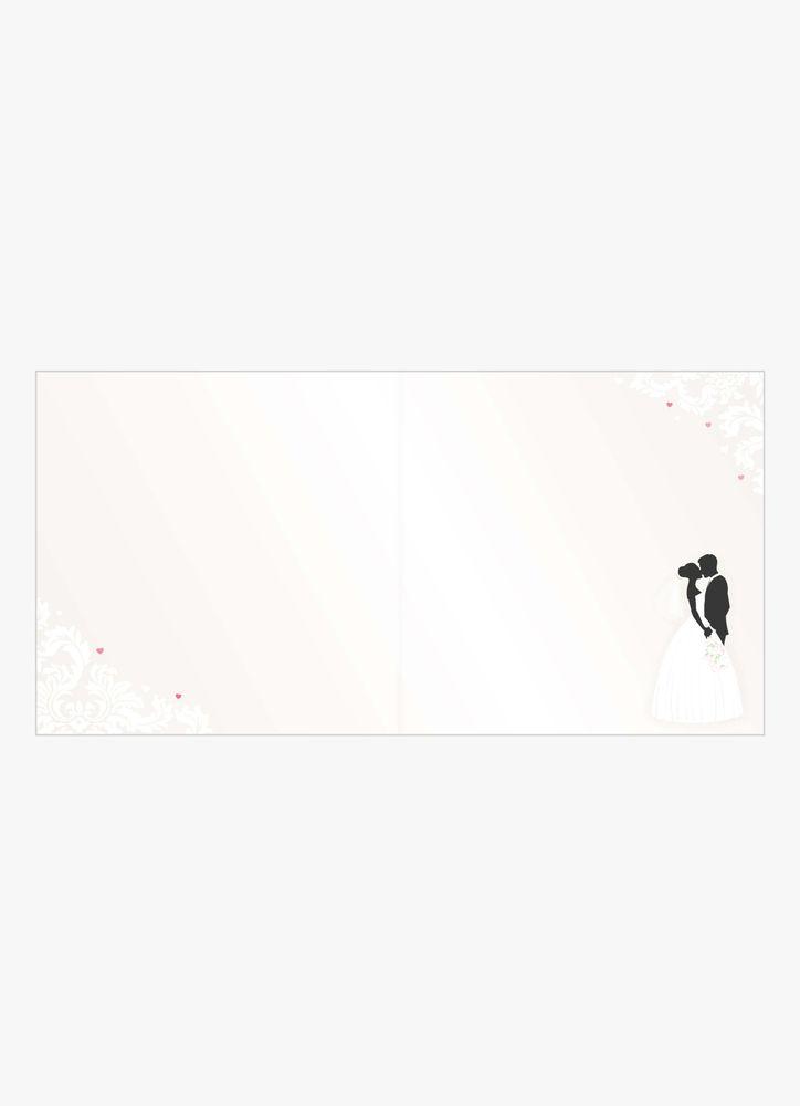 Brudpar kyss bröllopskort