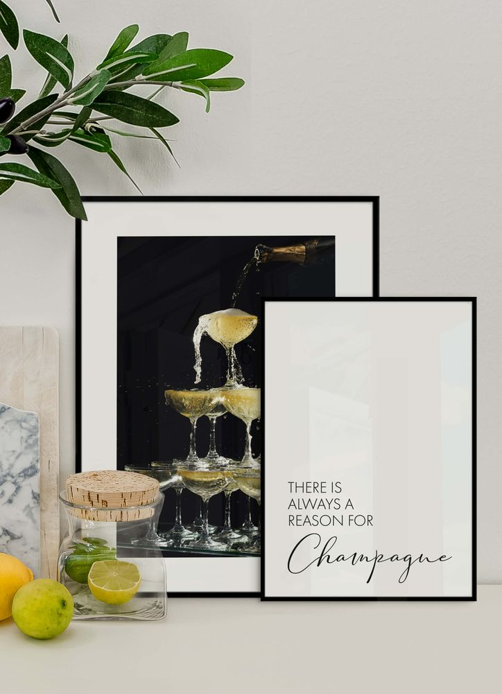 Champagne fontän poster