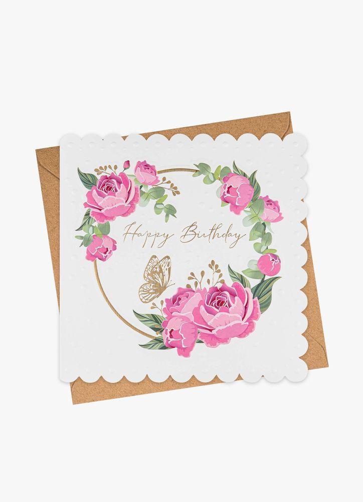Rosor Happy B-day gratulationskort