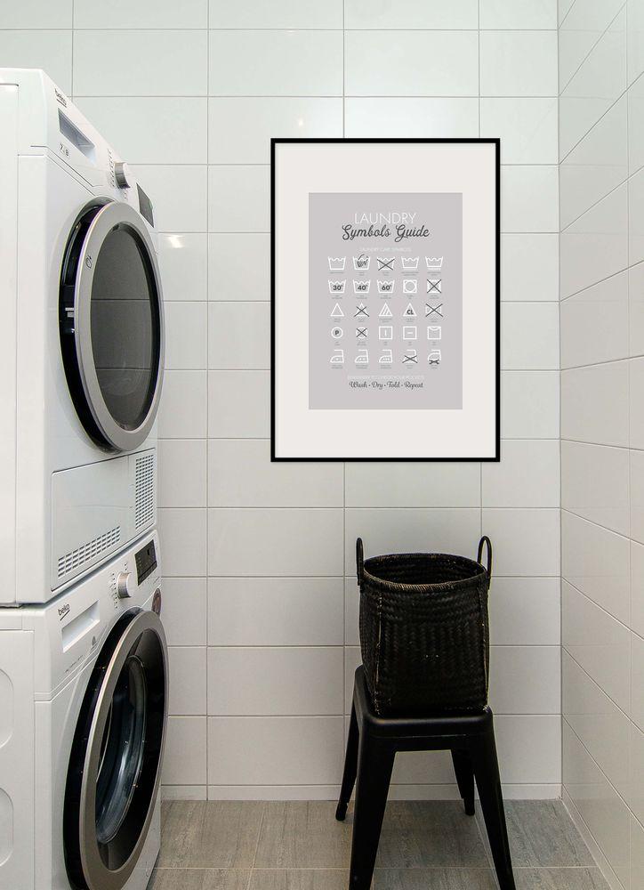 Tvättsymboler tavla