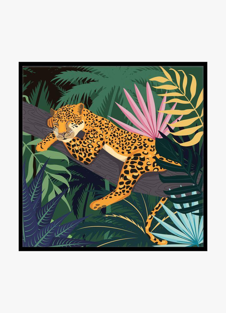 Leopard djungel poster