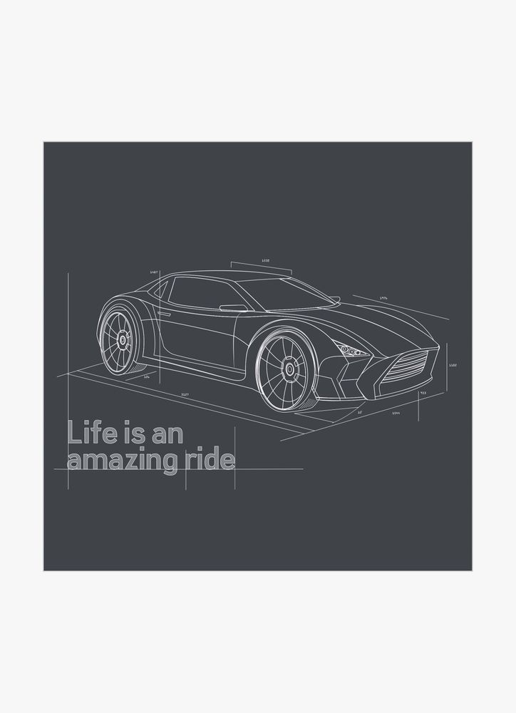 Life is an amazing ride text poster