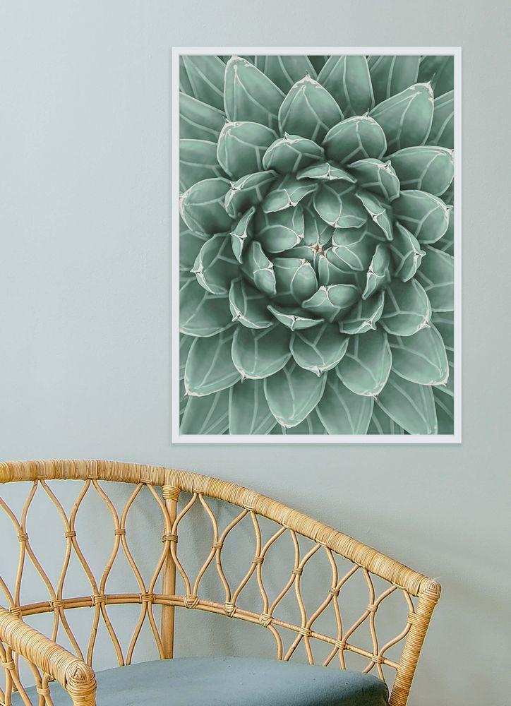Ljusgrön Kaktus Poster