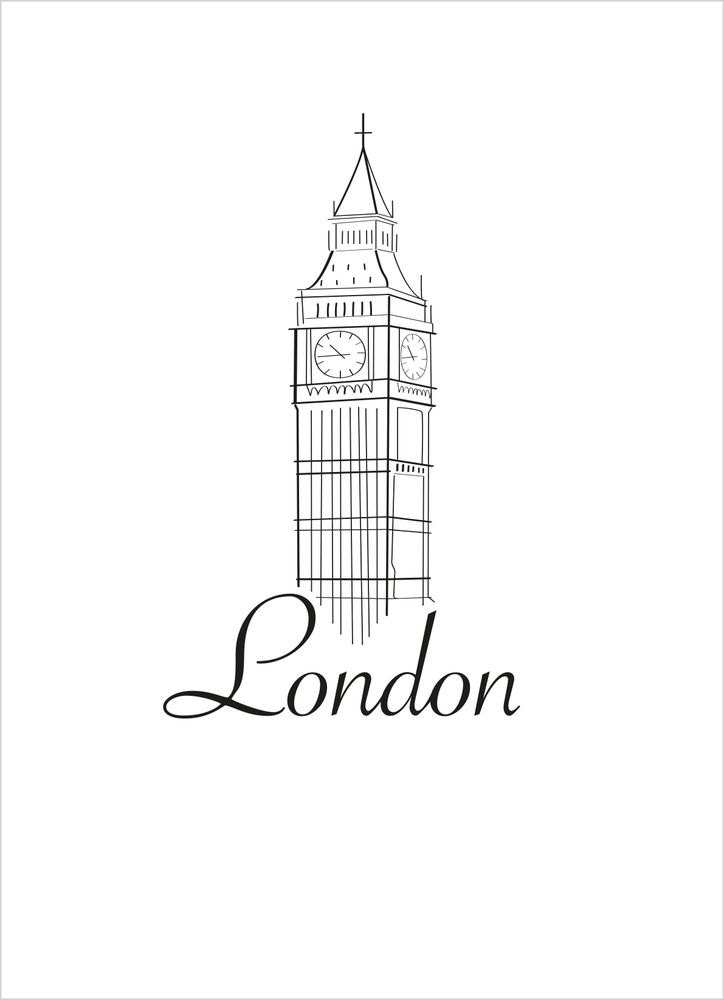 London skiss poster