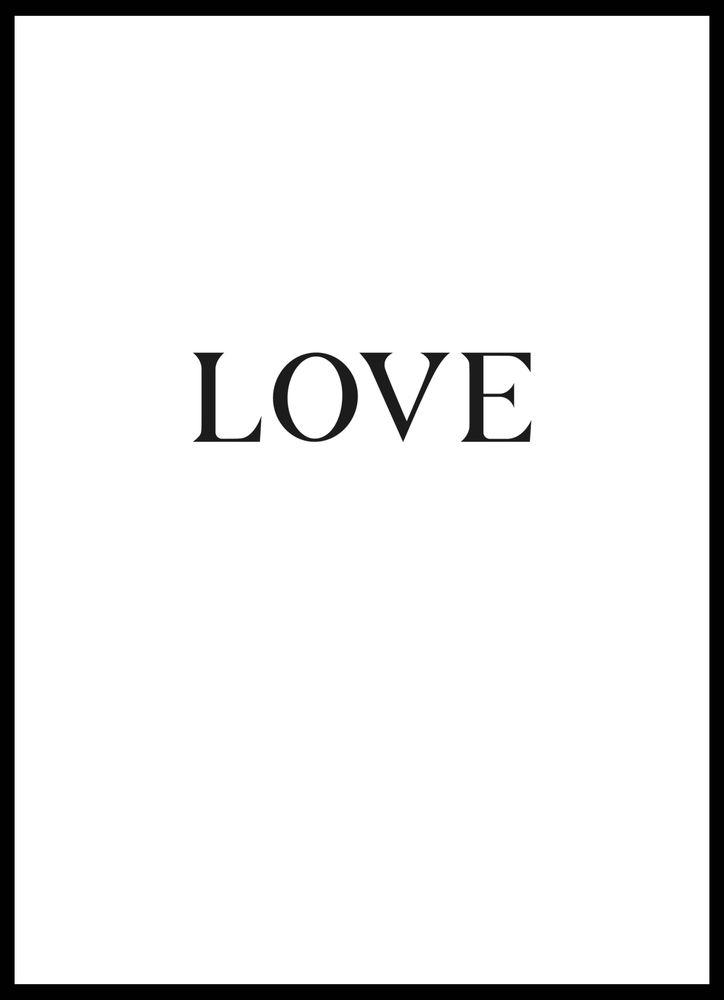 Love big text poster