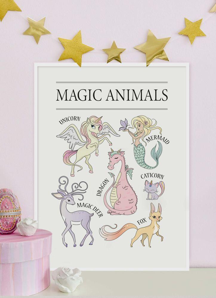 Magiska djur poster