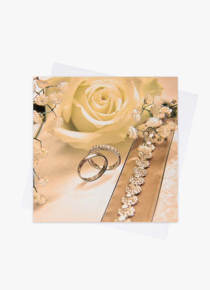 Bröllopskort ringar