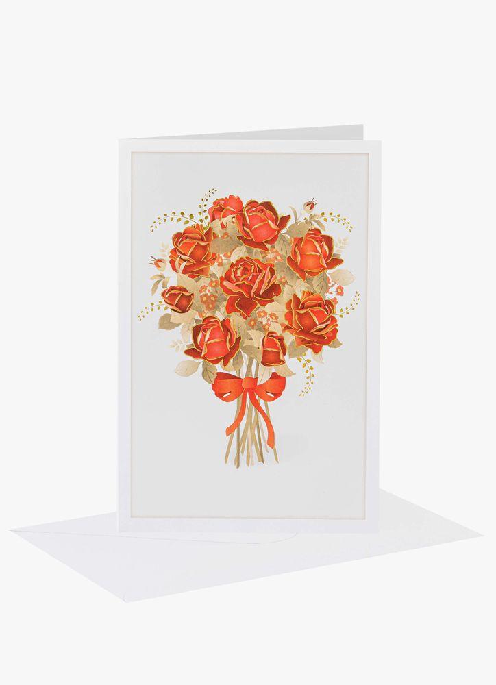 Höstbukett rosor kort