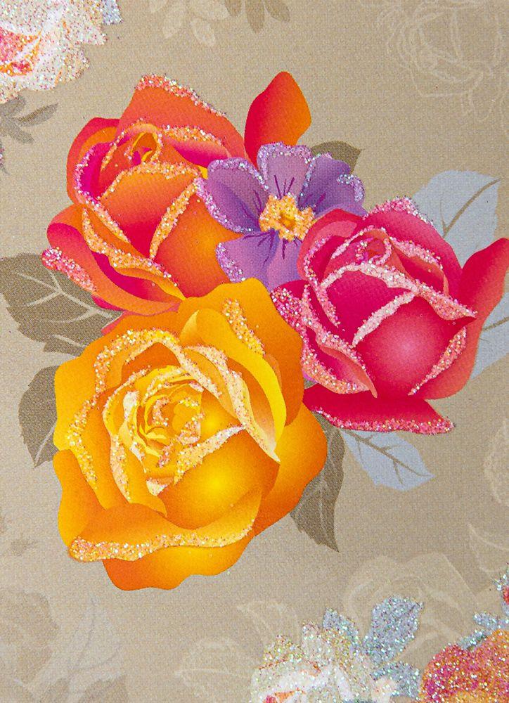Vackra rosor minikort