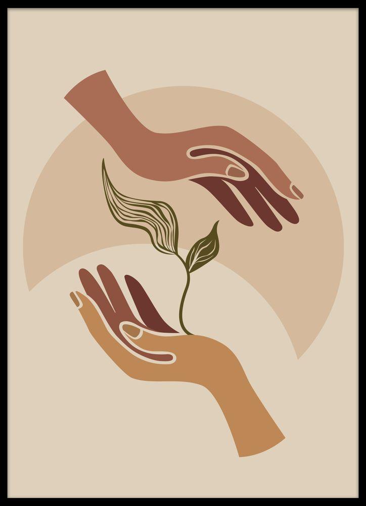 Moder jord Händer som gror