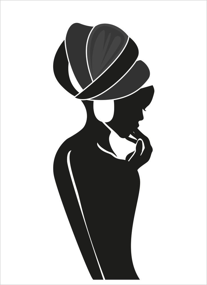 Moder jord Kvinna i profil