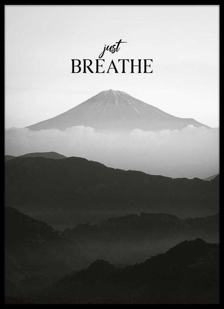 Mountain breathe text poster
