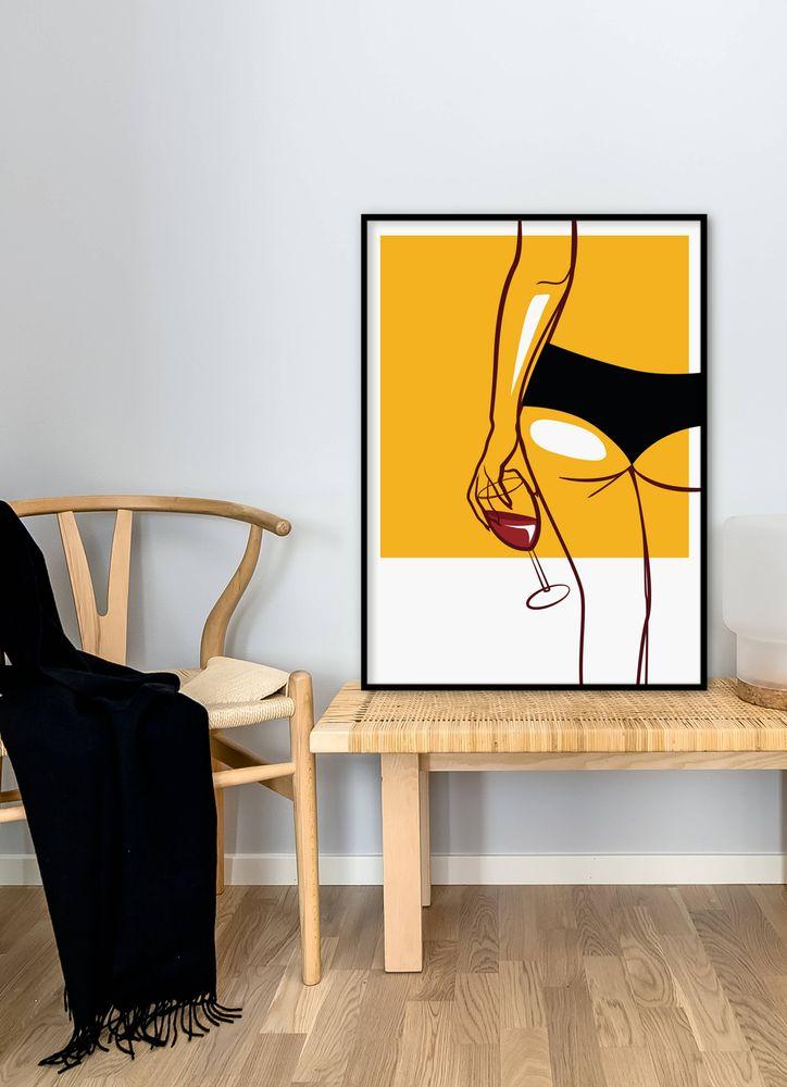 Vin i underkläder poster