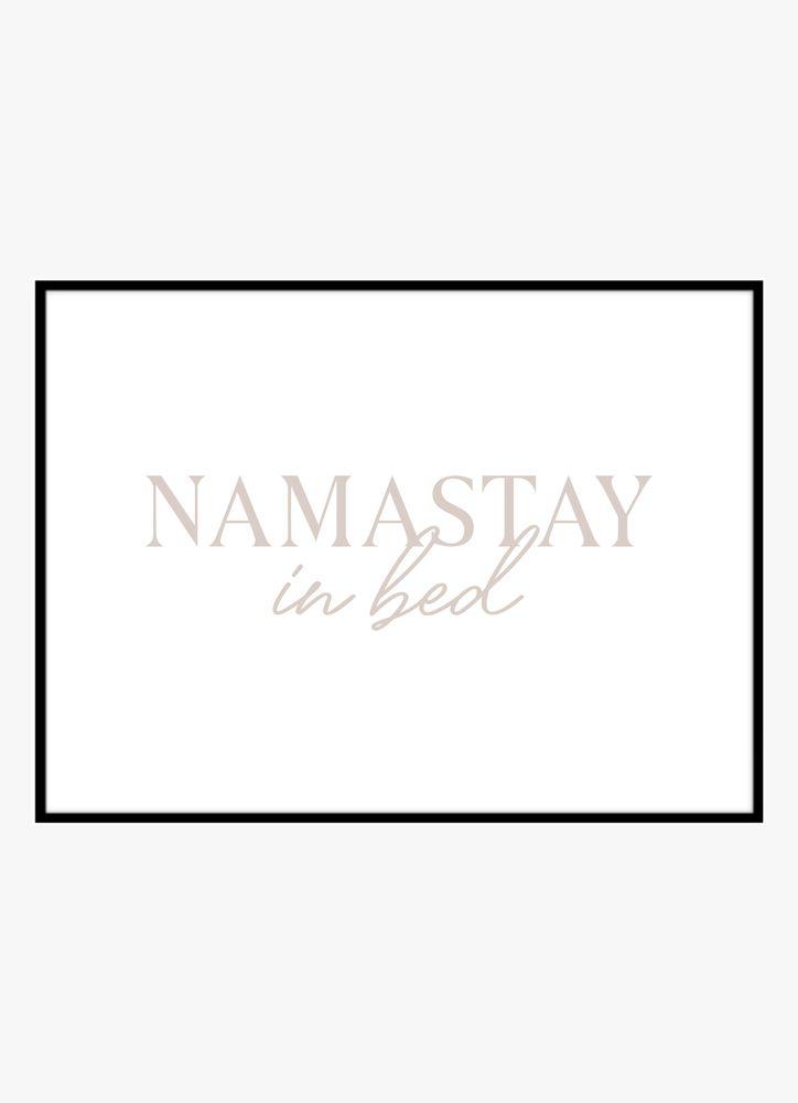 Namastay Text Poster