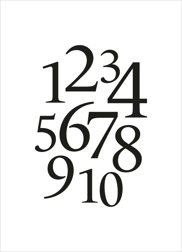 Siffror svart poster