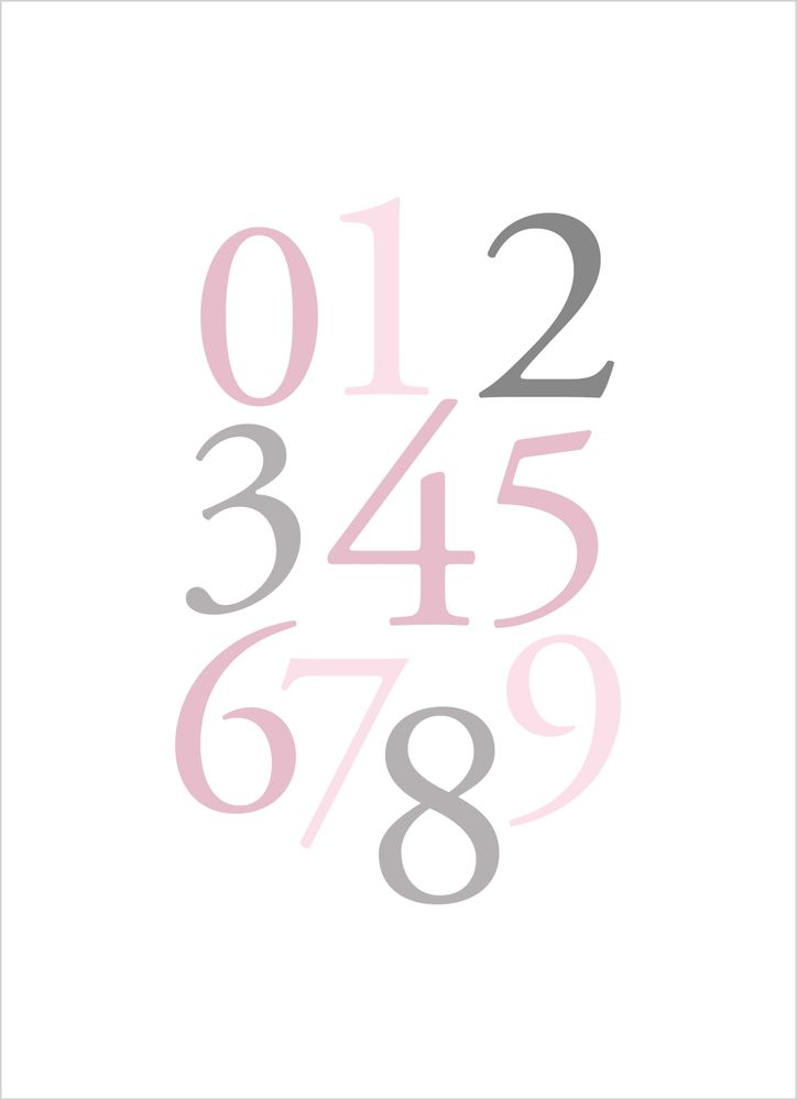 Siffror rosa poster