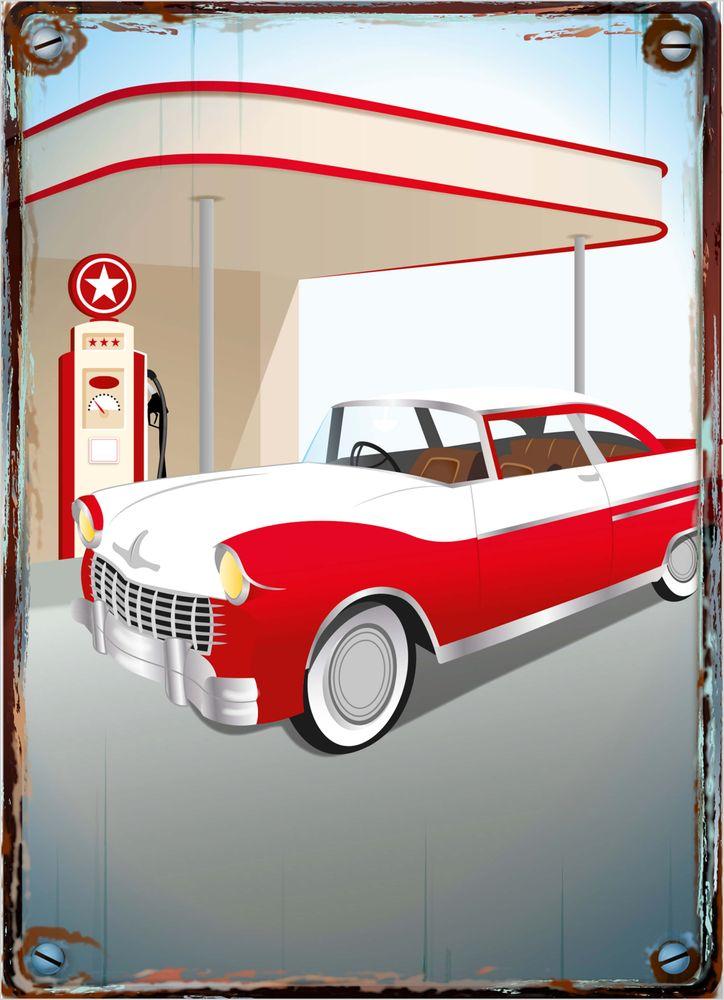 Retro bil poster