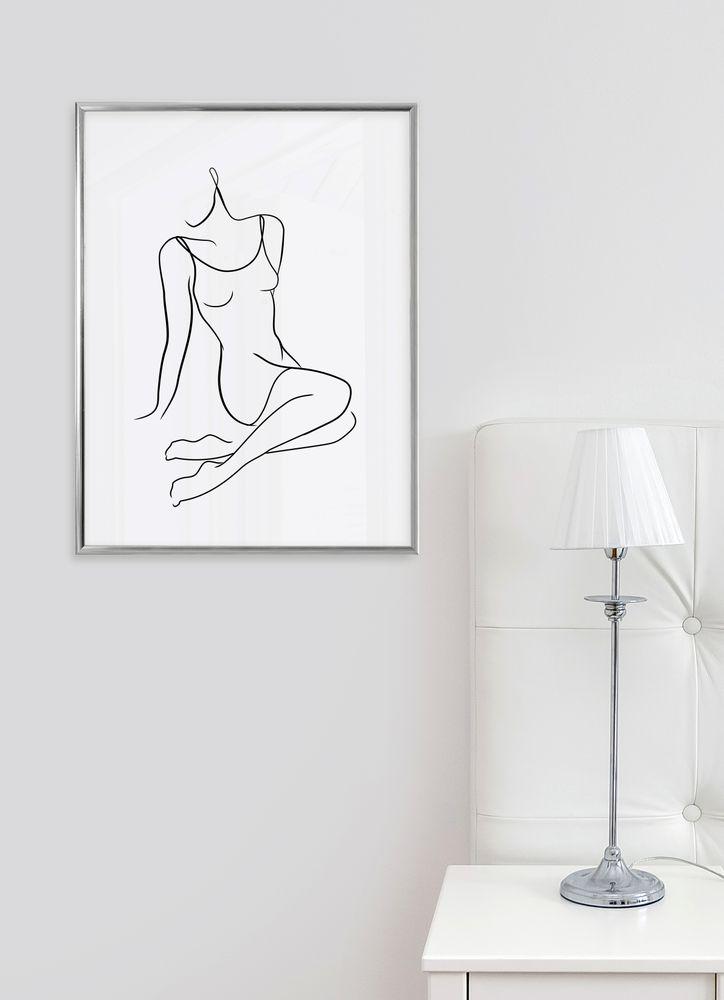 Sittande kvinna skiss poster