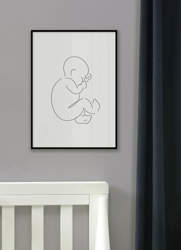Sovande baby skiss poster