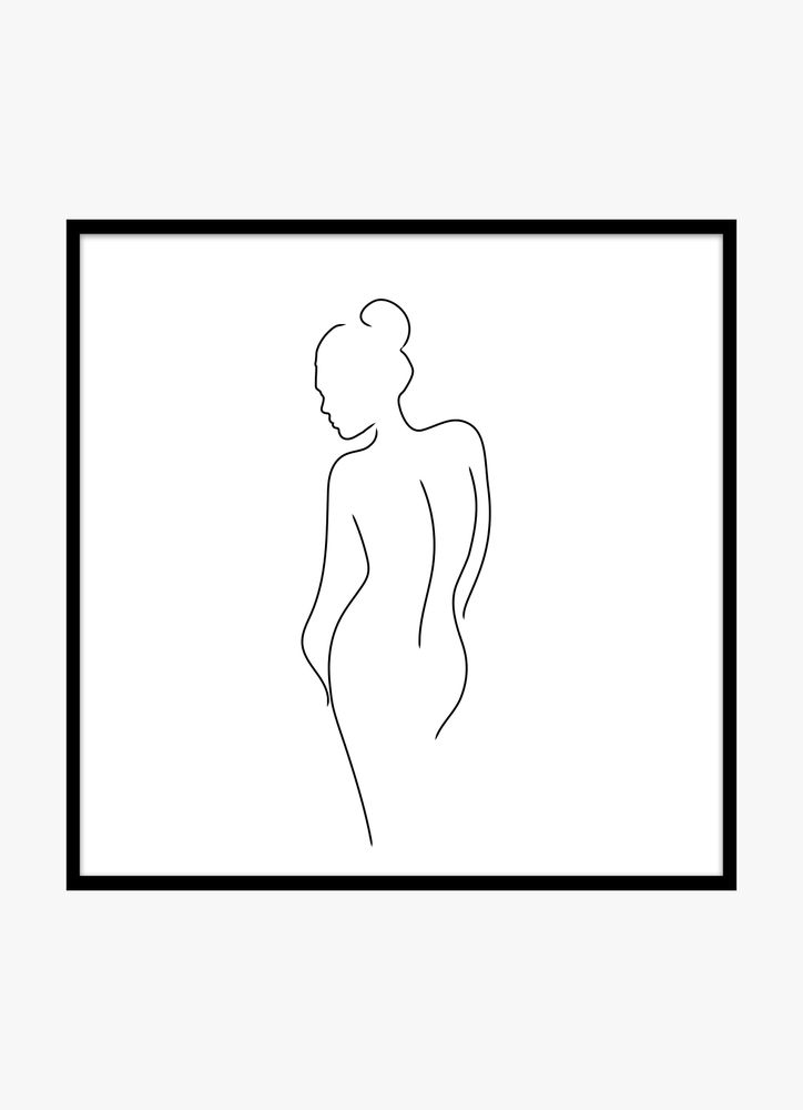 Kvinna skiss poster