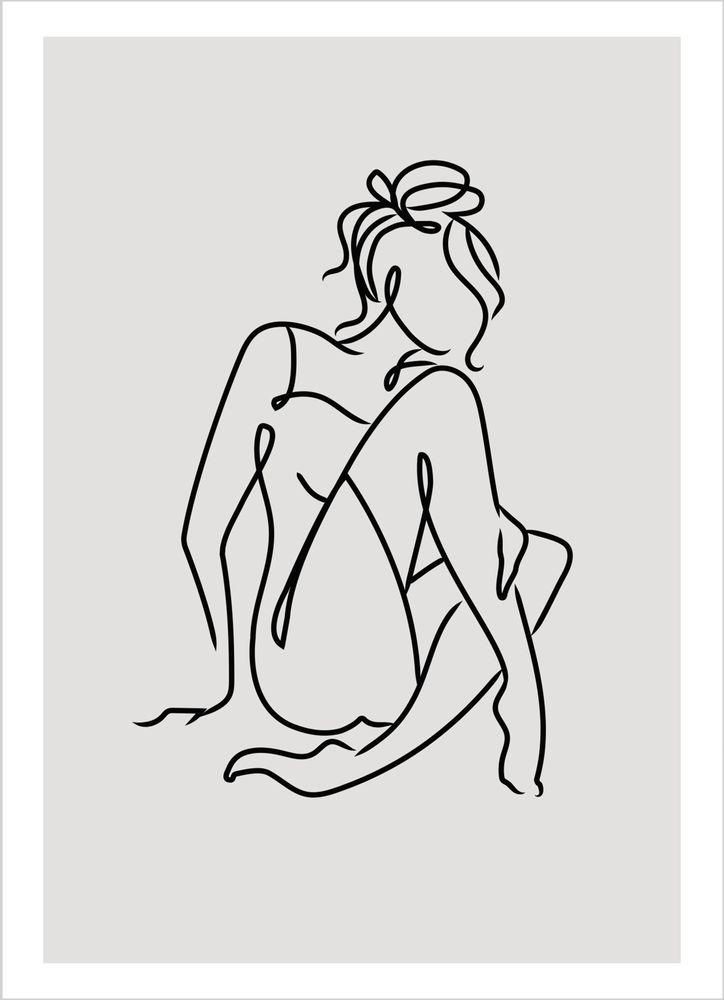 Flicka skiss poster