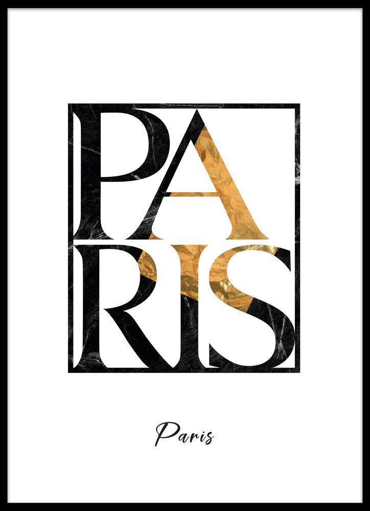 Paris text poster
