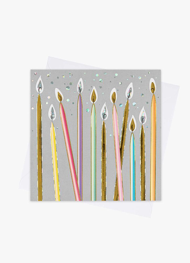 Pastell Tårtljus Gratulationskort