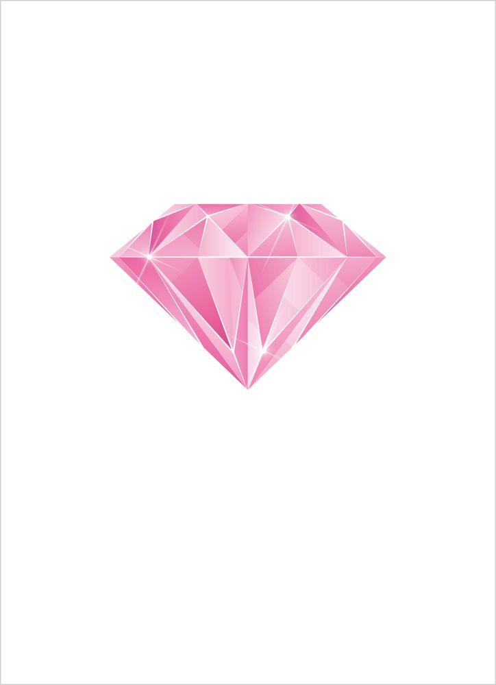 Rosa diamanter poster