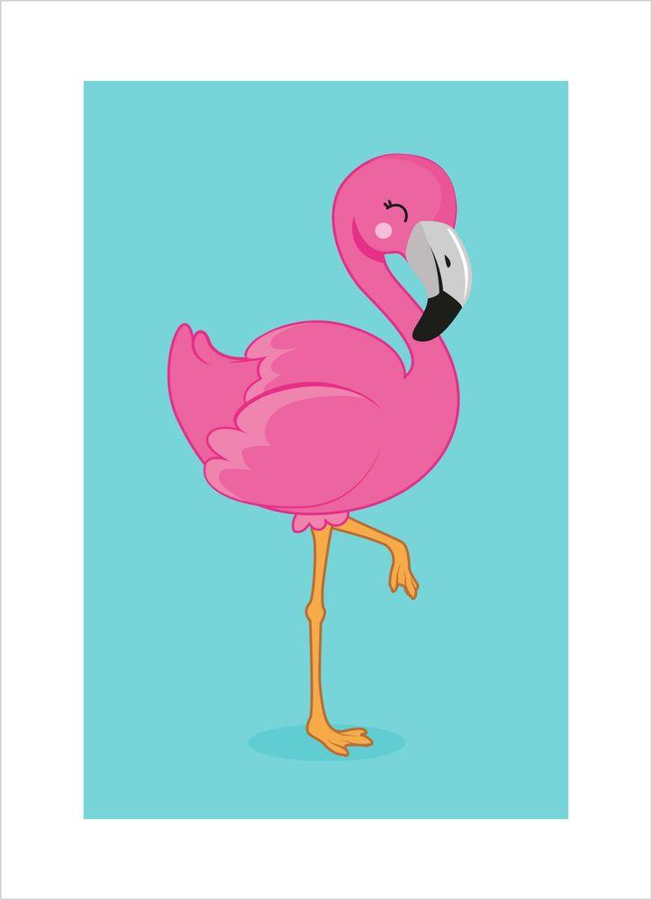 Rosa flamingo poster