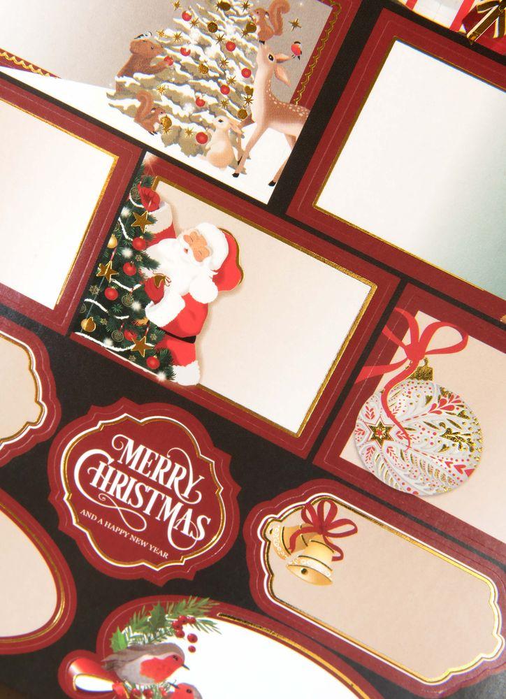 Julklappsetiketter klassisk jul