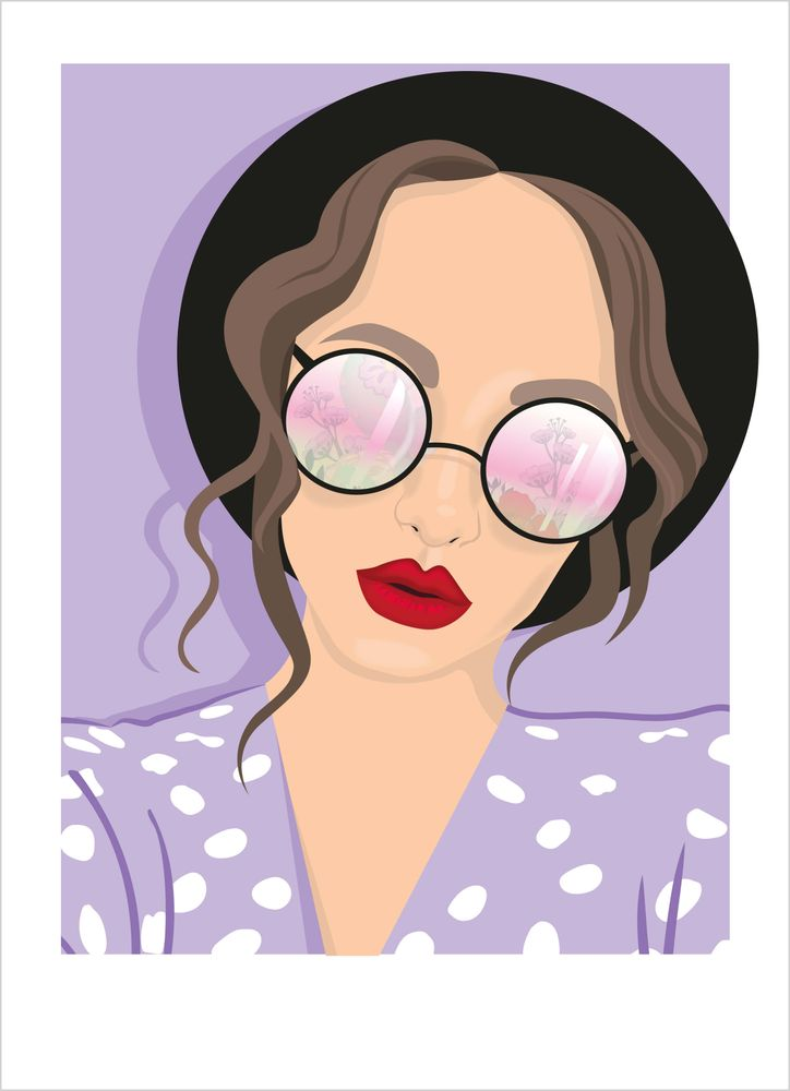 Retro kvinna med glasögon poster