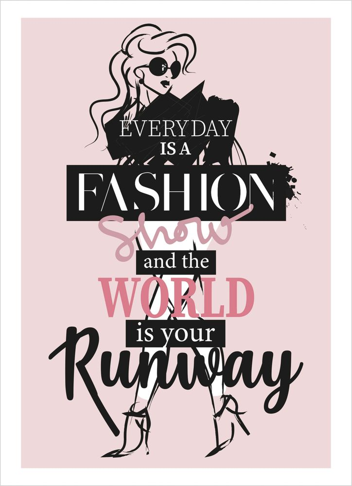 Runway girl text poster