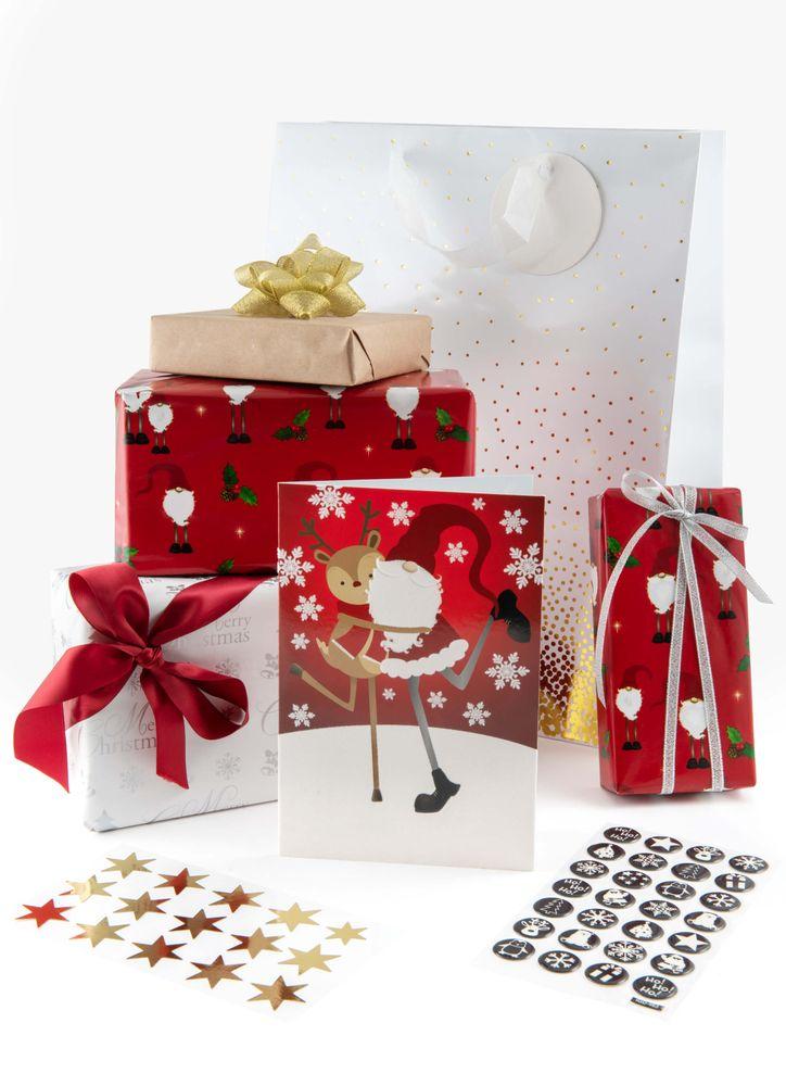 Julklappspapper Jultomte Långben