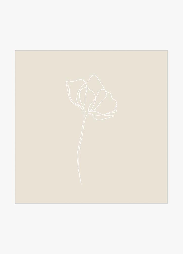 En blomma beige