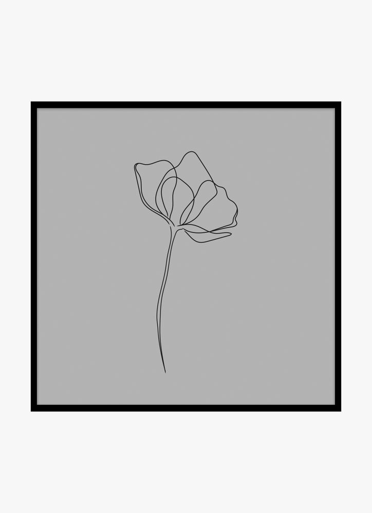 En blomma grå
