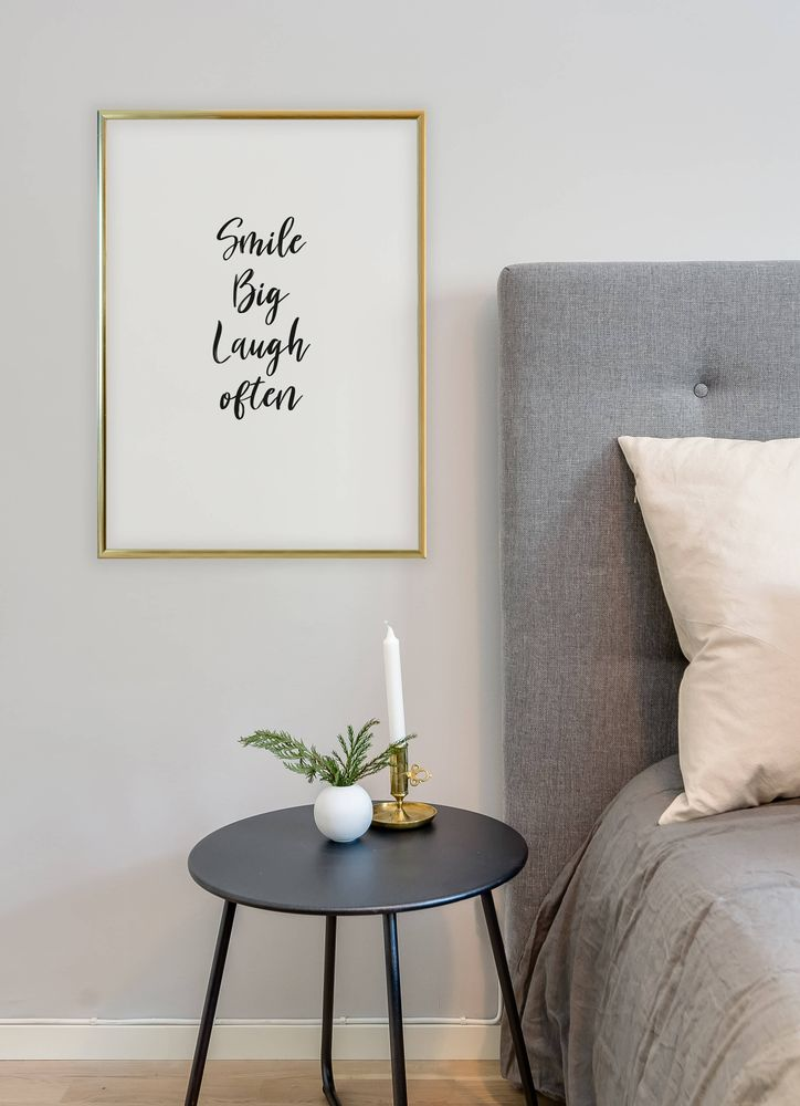 Smile big text poster