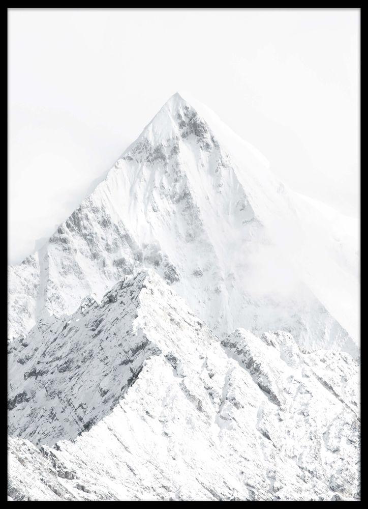 Bergstopp snö poster