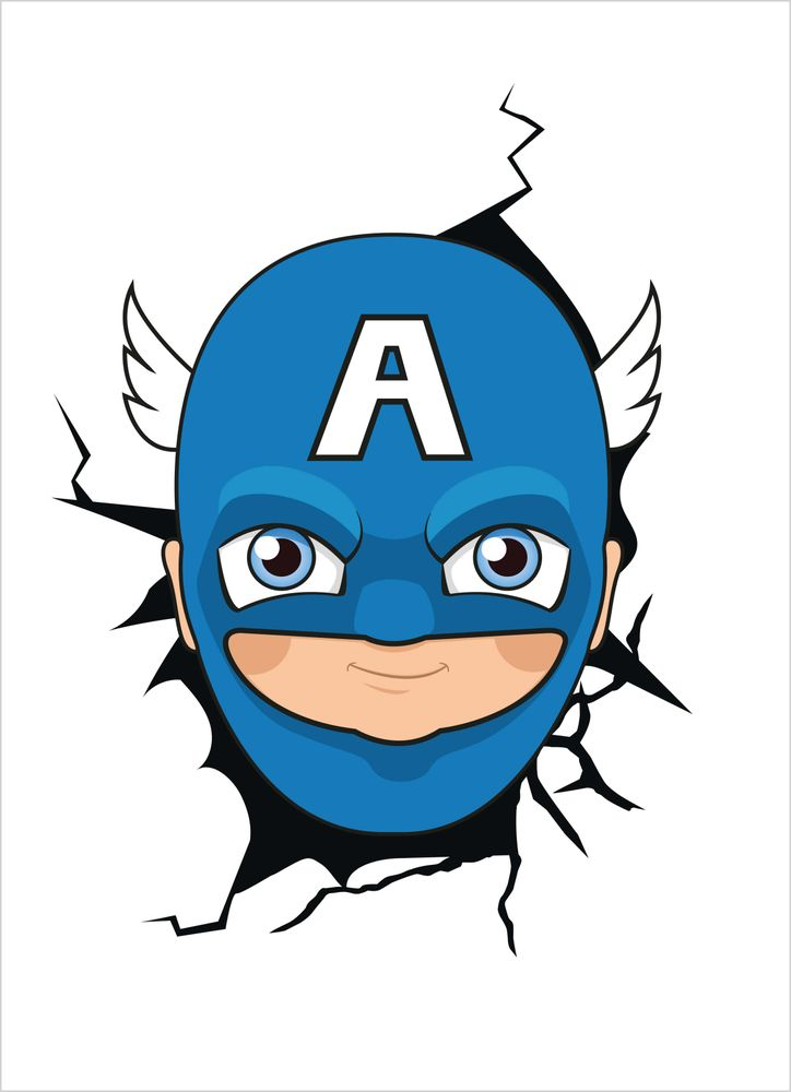 Superhjälte ansikte 3 poster