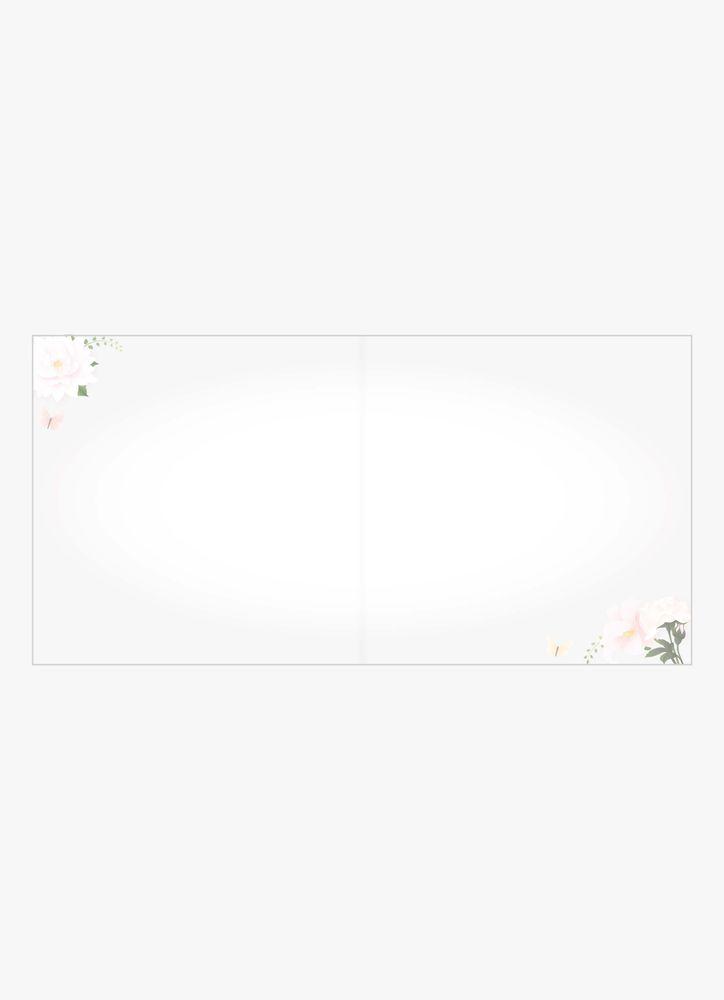Bröllopskort blommor