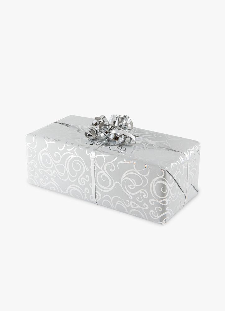 Silvermönster presentpapper