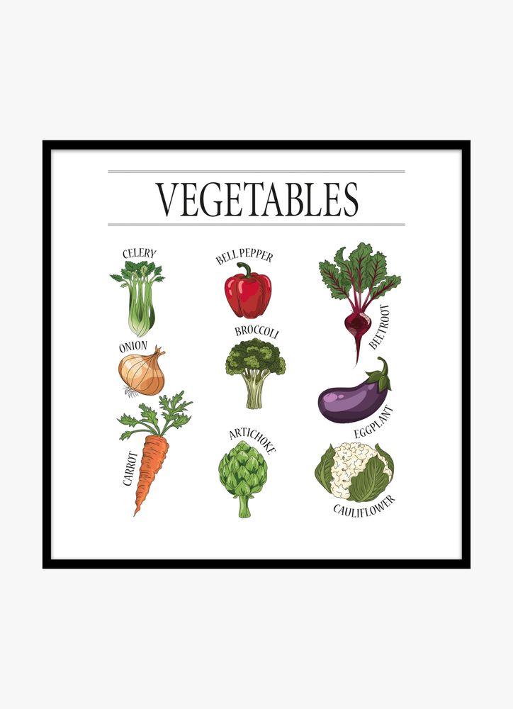 Poster grönsaker