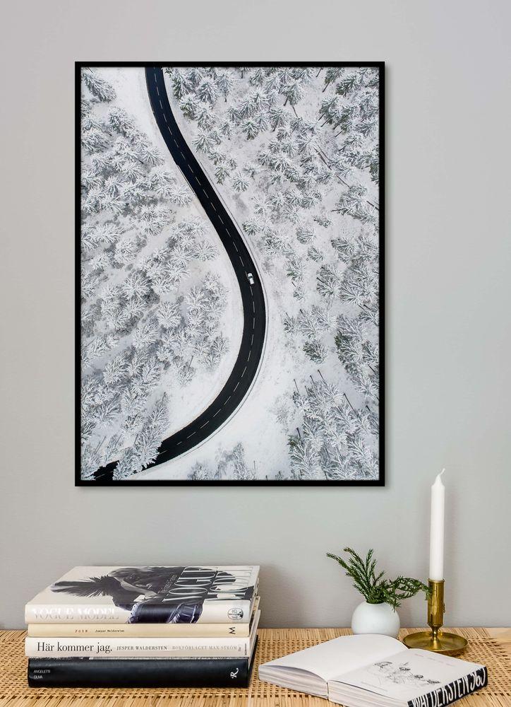 Vinter väg poster