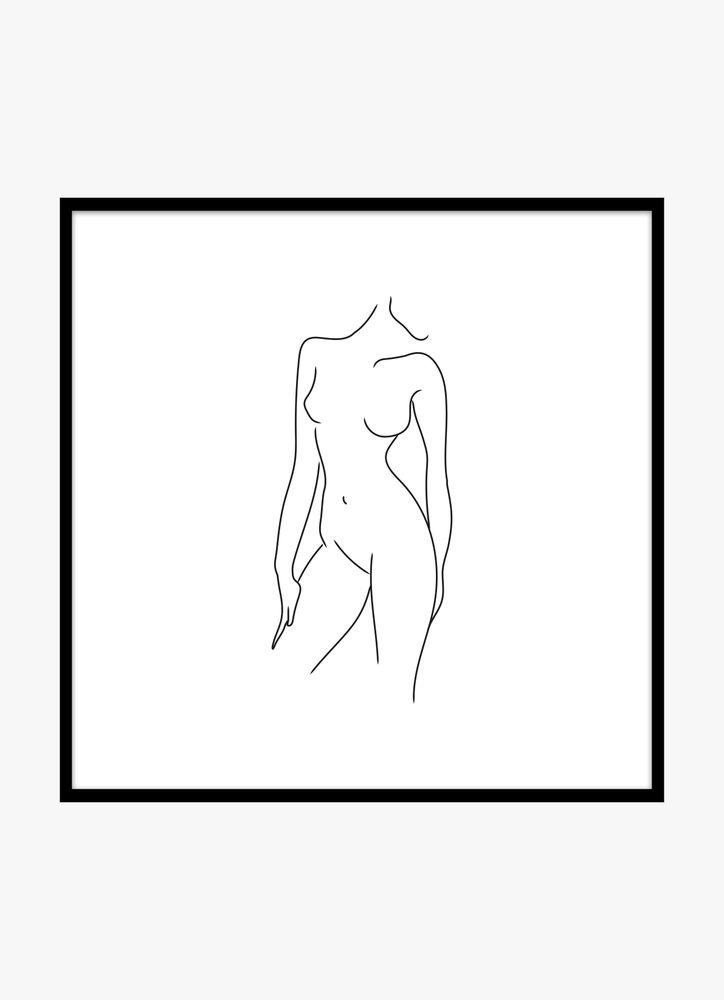 Kvinna kropp vit