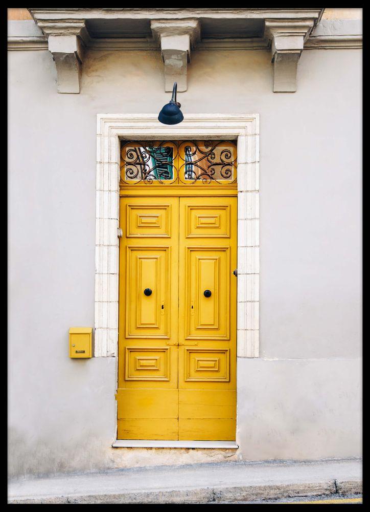 Gul dörr poster
