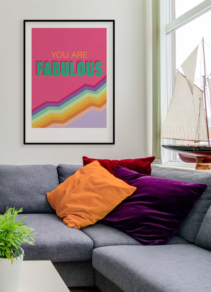 You are fabulous text poster