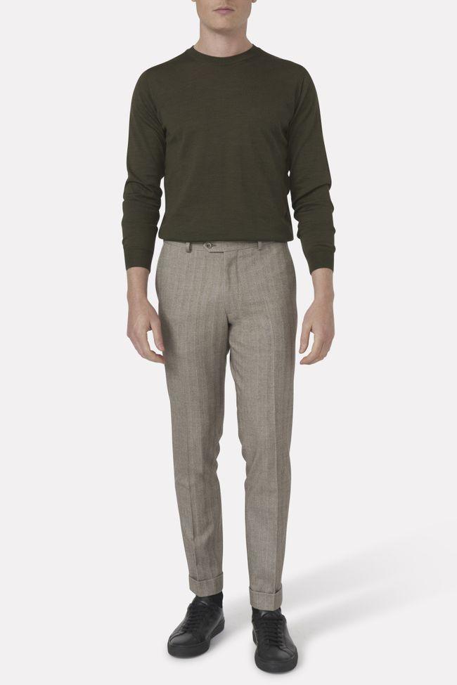 Denz cotton trousers