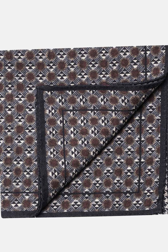 Micro pattern wool handkerchief